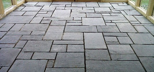 Flooring Made From The Finest Blue grey Or Heather purple Welsh Slate