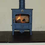 Heather purple slate hearth
